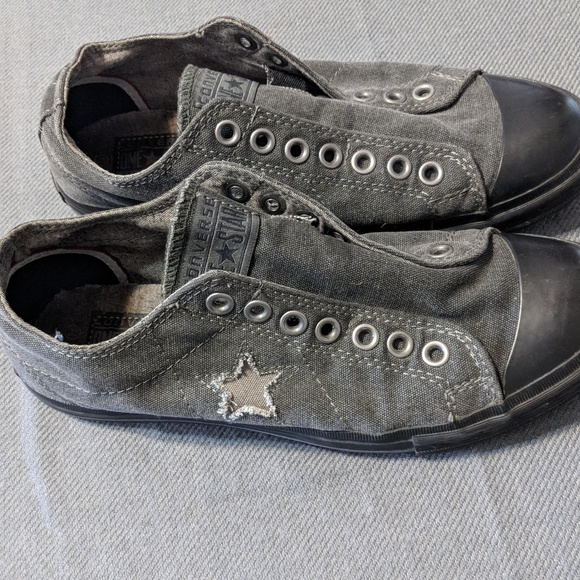 fba7cc8bcc92 Converse Other - Gray black men s Converse One Star slip-ons.